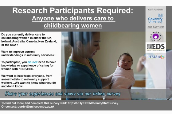 recruitment poster hEDS maternity staff survey