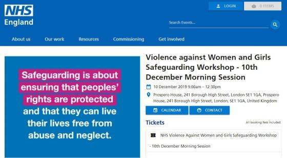 Violence against Women and Girls Safeguarding Workshop